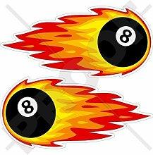 FLAMING Flammender ACHT BALL Billard Pool,