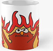 Flaming Hellmo Red Meme Fire Elmo Best 11 oz