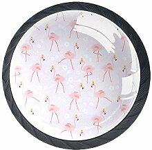 Flamingo Ballett Schrankknöpfe aus ABS-Glas,
