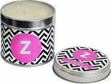 Flamingo Candles Z Kerze, in Dose, Silberfarben