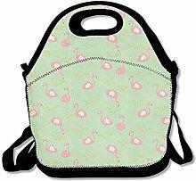Flamingo Design Convenient Lunch Box Tote Bag