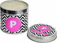 Flamingo Kerzen P Monochrome Initiale Kerze, Zinn,