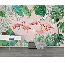 Flamingo-Kinderwandhintergrundtapete 3D Der