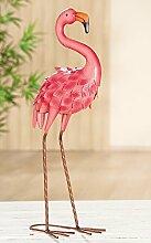 Flamingo Metall pink Höhe 59 cm, Gartendeko,