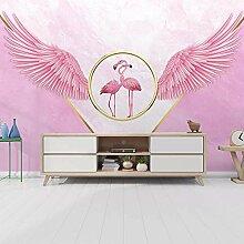 Flamingo Mit Rosa Flügeln,Tapete