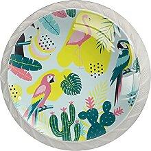 Flamingo-Muster Küchenknopf Klarglasschrank