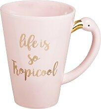 Flamingo-Porzellanbecher