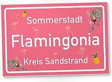 Flamingo Schild - Flamingonia, kleines
