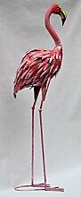 Flamingo stehend, Metall, Dekofigur, Gartendeko,