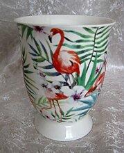 Flamingo Tasse Becher Kaffeetasse Teetasse Porzellan