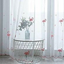 Flamingo Transparent Vorhang Tulle Gardinen