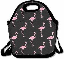 Flamingos Pink Convenient Lunch Box Tote Bag