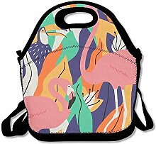 Flaminog Toucan Flower Lunch Box Bag Lunch Tote