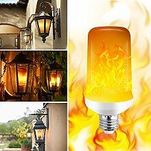 Flamme LED Lampe 4 Modi Flackernde Flamme