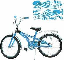 Flammen Fahrrad Motiv Aufkleber mehrteiliges