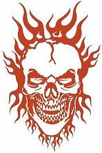 Flammen Totenkopf Aufkleber 'Burning Hero'
