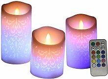 Flammenlose Kerzen, Batteriebetriebene Säule