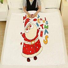Flanell Decke Jamicy®Winter Warm Bed Blanket 130*150cm Weihnachten Decke Flanell Stoff Sofa Bett Decke (H)