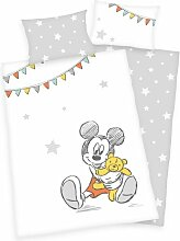 Flanell-Kinderbettwäsche Mickey Mickey Mouse &