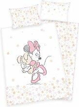 Flanell-Kinderbettwäsche Minnie Mickey Mouse &