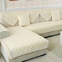 Flanell Stoff modernes Sofa-Kissen/ moderne minimalistische Plüsch Slip Sofakissen-M 90x120cm(35x47inch)