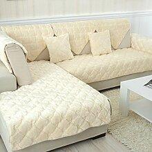 Flanell Stoff modernes Sofa-Kissen/ moderne minimalistische Plüsch Slip Sofakissen-H 90x120cm(35x47inch)