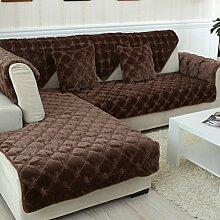 Flanell Stoff modernes Sofa-Kissen/ moderne minimalistische Plüsch Slip Sofakissen-J 90x120cm(35x47inch)