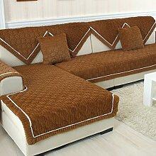 Flanell Stoff modernes Sofa-Kissen/ moderne minimalistische Plüsch Slip Sofakissen-K 110x210cm(43x83inch)