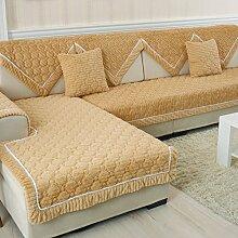 Flanell Stoff modernes Sofa-Kissen/ moderne minimalistische Plüsch Slip Sofakissen-L 90x210cm(35x83inch)