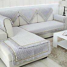 Flanell Stoff modernes Sofa-Kissen/ moderne minimalistische Plüsch Slip Sofakissen-A 110x110cm(43x43inch)