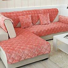 Flanell Stoff modernes Sofa-Kissen/ moderne minimalistische Plüsch Slip Sofakissen-F 110x160cm(43x63inch)