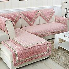 Flanell Stoff modernes Sofa-Kissen/ moderne minimalistische Plüsch Slip Sofakissen-N 110x110cm(43x43inch)