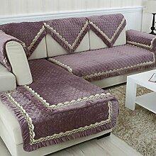 Flanell Stoff modernes Sofa-Kissen/ moderne minimalistische Plüsch Slip Sofakissen-D 90x240cm(35x94inch)