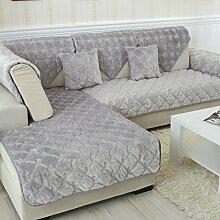 Flanell Stoff modernes Sofa-Kissen/ moderne minimalistische Plüsch Slip Sofakissen-G 70x150cm(28x59inch)