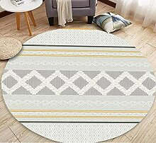 Flannel modernen minimalistischen Teppich rund