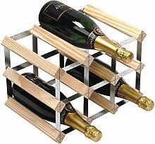 Flasche traditionelle Weinregal-vollständig