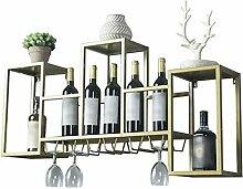 Flasche Weinregal, großer Wandhalter Stemware