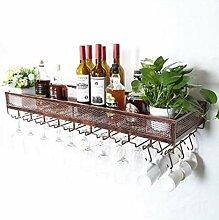 Flasche Weinregal, Metallwandbehang montiert Wein