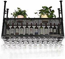 Flasche Weinregal, Vintage Decke Weinhalter Metall