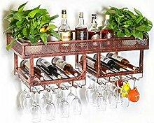 Flasche Weinregal, Wandbehang Weinregal Metall