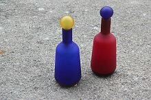 Flaschen aus Murano Glas, 1980er, 2er Set