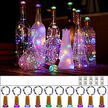 Flaschen-Kork-Lichter, 10 Stück, Lichterkette mit