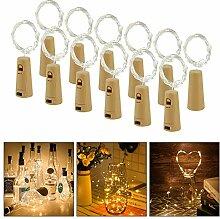 Flaschen Licht 20 LED Weinflaschen Lichterkette