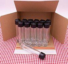 Flaschenbauer 12 Stück Gewürzglas 50ml mit