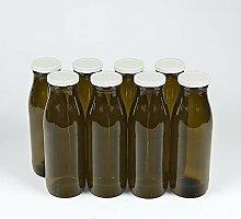 Flaschenbauer - 8 braune Glasflaschen 500ml inkl.