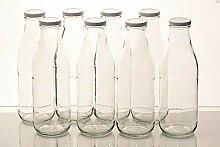 Flaschenbauer - 8 leere Glasflaschen 1l inkl.