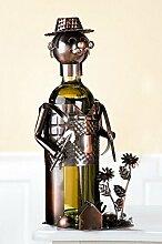 Flaschenhalter aus Metall 'Gärtner', 20 cm, kupfer