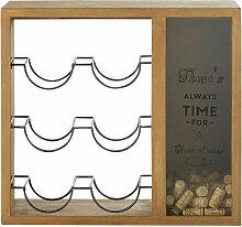 Holz Flaschenhalter mit Geduldsspiel Rätsel Flaschenspiel Flaschenknobeln Halter