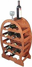 Flaschenhalter in Fass-Form, in Italien hergestell