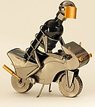 Flaschenhalter Motorradfahrer Metall